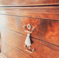 Flamed Mahogany Chest of Drawers / Sideboard / Commode with Marble (7 of 8)