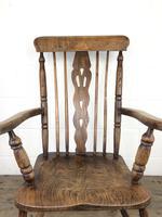 Antique Beech & Elm Windsor Armchair (10 of 12)