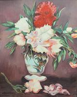 Large Original Gilt Framed 20th Century Impressionist Still Life Floral Oil Painting (10 of 12)