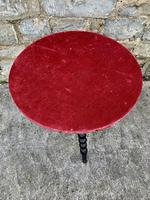 19th Century Gypsy Bobbin Table With Red Felt Top (2 of 5)