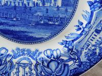 """Wedgewood Blue & White """"Old Capitol Building """"Souvenir  Plate (2 of 4)"""