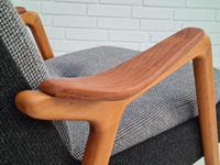 Danish Design, 60s, Completely Restored Armchair, Furniture Wool (7 of 16)
