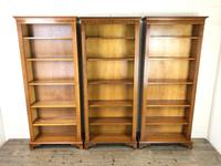 Three Yew Wood Reproduction Bookcases (2 of 9)