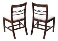 Pair of Georgian mahogany dining side hall bedroom chairs C1800 (7 of 7)