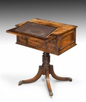 Complex George III Mahogany Centre Standing Writing Table (4 of 6)