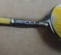 Cased Set of Silver & Enamel Teaspoons 1905 (3 of 5)