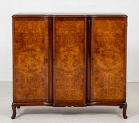 Stunning Burr Walnut 3 Door Side Cabinet (6 of 9)