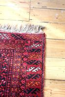 Handmade Bokhara wool rug vibrant red ground (5 of 11)