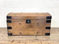 Rustic Antique Pine Dome Top Trunk (3 of 9)