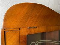 Art Deco Walnut Curved Bookcase Display Storage Cabinet (14 of 29)