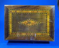 Victorian Rosewood Box With Inlay. (2 of 12)