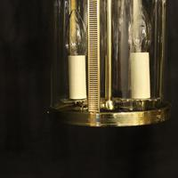 French Pair of Convex Twin Light Antique Lanterns (4 of 10)