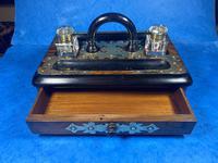 Victorian Brassbound Walnut Inkstand (15 of 16)