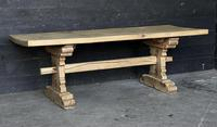 Rustic French Bleached Oak Farmhouse Dining Table (2 of 15)