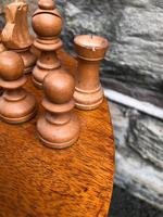Antique Boxwood & Mahogany Chess Set (2 of 6)