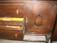 Large Three Drawer Carved Oak Sideboard (3 of 3)