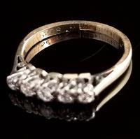 Antique Diamond Half Hoop Ring, Five Stone, 18ct Gold (12 of 13)