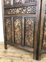 Vintage Indian Hardwood Three Panel Screen Room Divider (m-1806) (8 of 10)