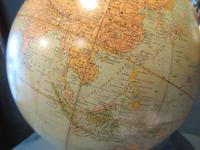 """1930's 12"""" Plaster Terrestrial Globe on Stand (4 of 8)"""