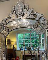 Large Engraved Venetian Mirror (2 of 4)