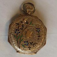Antique 14ct Gold Cased, Enamel-decorated, Ladies Watch (2 of 12)
