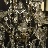 French Gilded 7 Light Antique Chandelier (6 of 10)