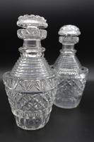 Good Pair of Regency Period Cut Glass Decanters (3 of 4)