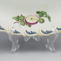 Chelsea Porcelain Feather Edged Large Oval Fruit Dish Gold Anchor (6 of 10)