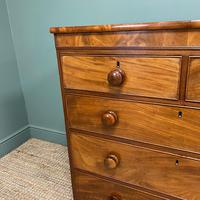 Victorian Country House Figured Mahogany Antique Chest of Drawers (6 of 6)
