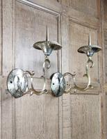 Pair of Late 18th Century Gilt Brass Wall Sconces (4 of 4)