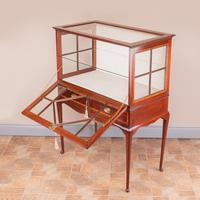 Inlaid Mahogany Display Cabinet (8 of 12)