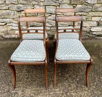 Set of 4 Regency Rosewood Sabre Leg Dining Chairs (3 of 15)