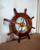 Brass & Oak Yacht Wheel
