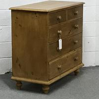 Victorian 2 over 3 Pine Chest of Drawers (2 of 4)