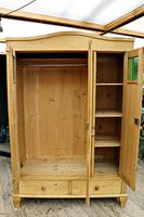 Beautiful Old Pine Triple Knock Down 'Arts & Crafts' Wardrobe  - We Deliver & Assemble! (6 of 18)