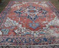 Antique Serapi Heriz Carpet 374x260cm (2 of 13)