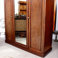 Wardrobe Triple Compactum Wardrobe Victorian Mahogany (5 of 12)