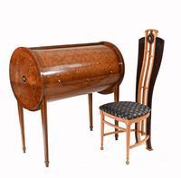 Art Deco Roll Top Desk & Chair Set 1920s (3 of 16)