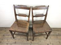 Pair of Welsh Oak Bar Back Farmhouse Chairs (5 of 15)