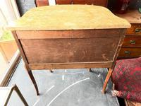 French Walnut Commode with Marble Top & Metal Marquetry (6 of 7)
