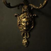 French 19th Century Bronze Bacchus Antique Wall Sconces (2 of 10)