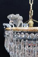 Italian Art Deco Five Tier Crystal Glass Chandelier - 1930s (4 of 6)
