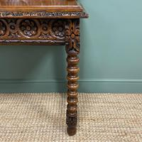 Stunning Carved Oak Victorian Antique Hall Table (4 of 8)