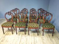 12 Walnut Irish Dining Chairs (3 of 7)