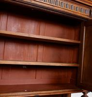 Large German Carved Walnut Bookcase Cabinet 19th Century (14 of 14)