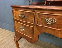 Burr Walnut Bow Fronted Dressing Table (9 of 19)
