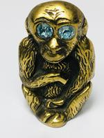 Small Brass Monkey Vesta Match Holder With Glass Eyes (2 of 17)