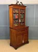 Edwardian Inlaid Mahogany Secretaire Bookcase (17 of 21)