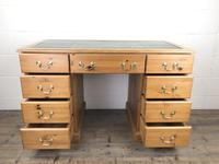 Late 20th Century Pine Pedestal Kneehole Desk (10 of 14)