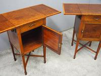 Pair of Thuya Wood Bedside Cabinets (10 of 13)
